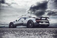 Porsche 918 Spyder - Super Hybrid Sports Car Landscape Wall Art Canvas Pictures