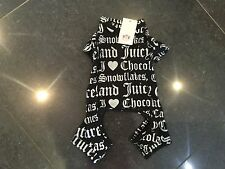 NWT Juicy Couture New & Gen. Dogs Black Cotton Blend All In One Medium With Logo