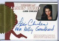 James Bond Women of James Bond Motion Lois Chiles Incentive Autograph Card WA15