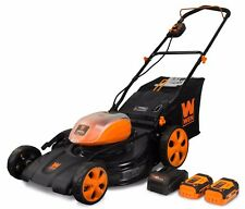 Wen 40441 40V Max Li-Ion 21-Inch 3-in-1 Lawn Mower with Two Batteries & Charger