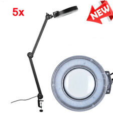 Kaltlicht LED Lupenleuchte Lupenlampe 127mm Linse 5 Dioptrien 15W Tischklemme DE
