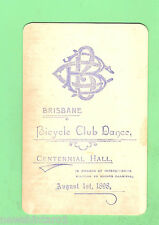 #D71.  1908  BRISBANE  BICYCLE CLUB  DANCE  CARD