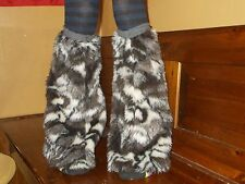 Animal Print Furry Leg Warmers / Boot covers
