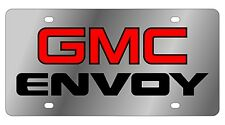 New GMC Envoy Red Logo Stainless Steel License Plate