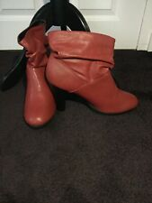 Red Boots Uk size 8