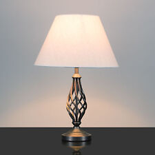Kingswood Barley Twist Traditional Table Lamp - Antique Copper - With Shade