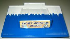 Lincoln Logs Blue Roof Snowy Mountain Lookout Small Rectangle Replacement Part