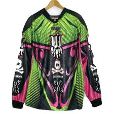 HK ARMY size 2X Padded Paintball Jersey pbFashion Mark OO Pink Green Black Skull