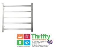 Forme Bathroom Platino 5 Bar Heated Towel Rail Wide HTR-TE0502M 850W x 680H