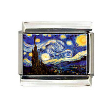 Van Gogh STARRY NIGHT ITALIAN photo 9mm Charm for modular style link bracelets