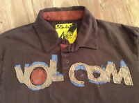 VOLCOM Slightly Removed Brown Short Sleeve Polo Size Large