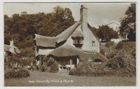 Somerset postcard - Selworthy Green & Church - RP