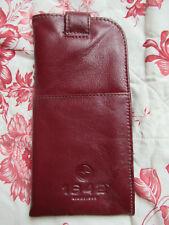 Lichfield 1642 burgundy leather soft glasses case