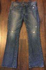 RUEHL New York No.925 Women's Jeans Denim Blue Distressed bootcut. 30x32