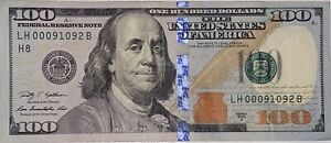 ONE (1) $100 DOLLAR CRISP GEM UNCIRCULATED (VERY RARE) LOW FANCY SERIAL NUMBER