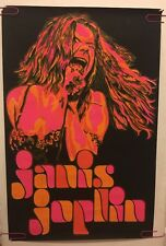Janis Joplin original vintage black light poster psychedelic Beeghley pin-up 60s