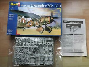 Sealed Revell 1/32 Scale Westland Lysander Mk I/III Plane Kit In Box Date 1998