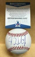 D.J. WILSON CHICAGO CUBS SIGNED M.L. BASEBALL ROOKIE YEAR BECKETT R14037