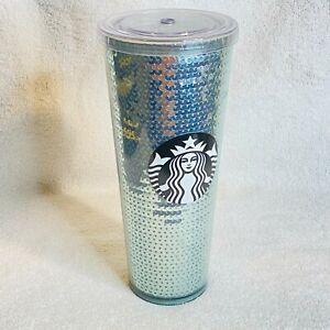 Starbucks Sequin Tumbler Holiday Venti Metallic NEW 24 OZ 011077906 709 ML