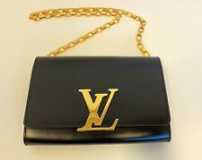 Edle LOUIS VUITTON Handtasche - Schwarz - chain shoulder bag / clutch - black