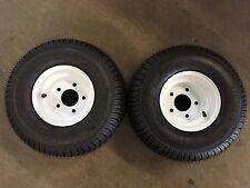 18.5 X 8.5 - 8 (215/60-8) Snowmobile trailer tire & wheel -TRITON 1pr WHITE