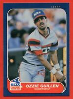 1986 Fleer #206 Ozzie Guillen MINT+ Chicago White Sox RC Rookie FREE SHIPPING