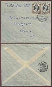 GOLD COAST ANYINAM to OSINO 1953 CORONATION PAIR FDC