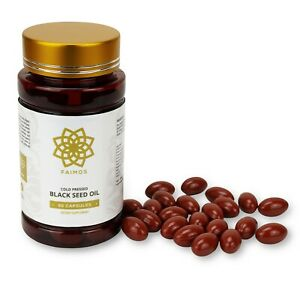 60 x STRONG Cold Pressed Black Seed Oil Capsules 500mg With Multivitamins