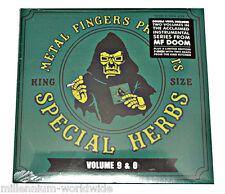 "NEW - MF DOOM - SPECIAL HERBS VOLUME 9 & 0 - 2X 12"" VINYL LP w/ BONUS 7"" RECORD"