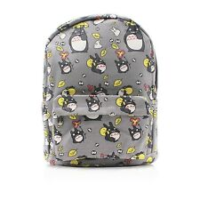 Finex My Neighbor TOTORO Gray Canvas Backpack with Laptop storage compartment
