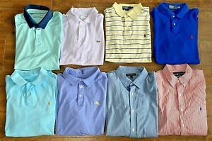 Polo, Under Armour, Lacoste, Tommy, Banana Republic Lot Men Large Lot ~ 8 shirts