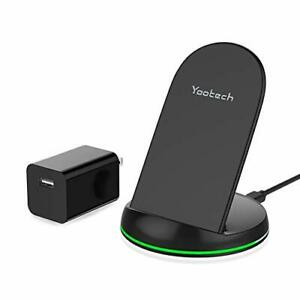 Yootech Wireless Charger, Qi-Certified 10W Max Wireless Charging Stand with