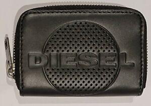 Diesel Mens Embogo Japaround Zip Around Wallet Black