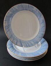 "Rare Bernardaud Limoges France ""Moire Bleue"" 8.4"" Salad/Dessert Plates [4] MINT"