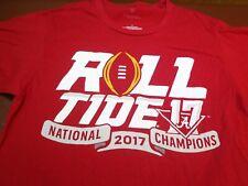 Fanatics Alabama Crimson ROLL TIDE 2017 National Championship Small T Shirt  U1