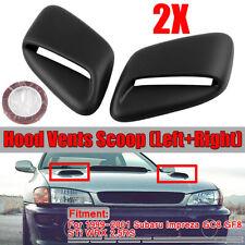 for Subaru Impreza 99-01 GC8 STi WRX 2.5RS Hood Vent FRP Black Induction Scoop