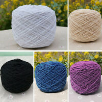 Crochet 100% Cotton Mercerized Yarn Soft 100g Cotton Balls Rainbow 5 COLOURS