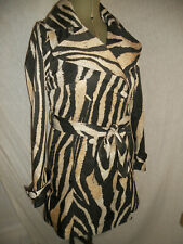DESIGNER ROBERTO CAVALLI at H&M ANIMAL ZEBRA PRINT TRENCH COAT MAC EU36 BNWT