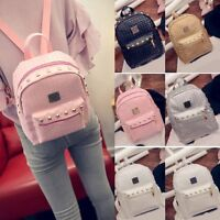 Women's Fashion Backpack Pu Leather Bag Ruaksack Handbag Tote Shoulder Purse New