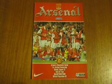 Arsenal v Manchester United - FA PL  - Season 1999 - 2000 (VGC).