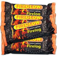 Fireglow Easy to Light Instant Smokeless Fire Logs burner stove  - BOX OF 15