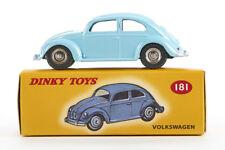 Lot 180908 Dinky Toys 181 VW Käfer, Druckguss, hellblau, 1:43, OVP