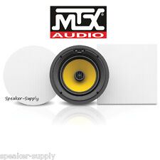 "MTX T825CW Thunder 8"" Round Square 2 Way In Wall Ceiling High End Kevlar Teteron"