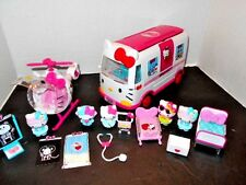 Hello Kitty Rescue Emergency Ambulance and Helicopter Plus Huge Lot Accessories
