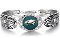 Philadelphia Eagles Women's Sterling Silver Bracelet Football Gift +GiftPkg D3-1