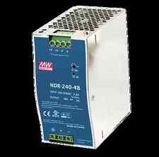 Mean Well NDR-240-48, 48 Volt 5 Amp 240 Watt Industrial DIN Rail US Authorized