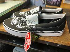 Vans Classic Slip On TM Glow Skulls Black Glow In The Dark Size US 12 Men New