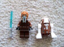 LEGO Star Wars Clone Wars - Rare Jedi Plo Koon w/ Lightsaber & R7-D4 - Excellent