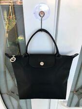 LONGCHAMP Le Pliage Small Black SHOPPING Modele Depose Tote Bag PURSE