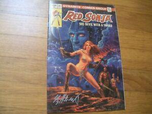Red Sonja Kickstarter Exclusive Cvr signed by Greg Hildebrandt, Frank Thorne Art